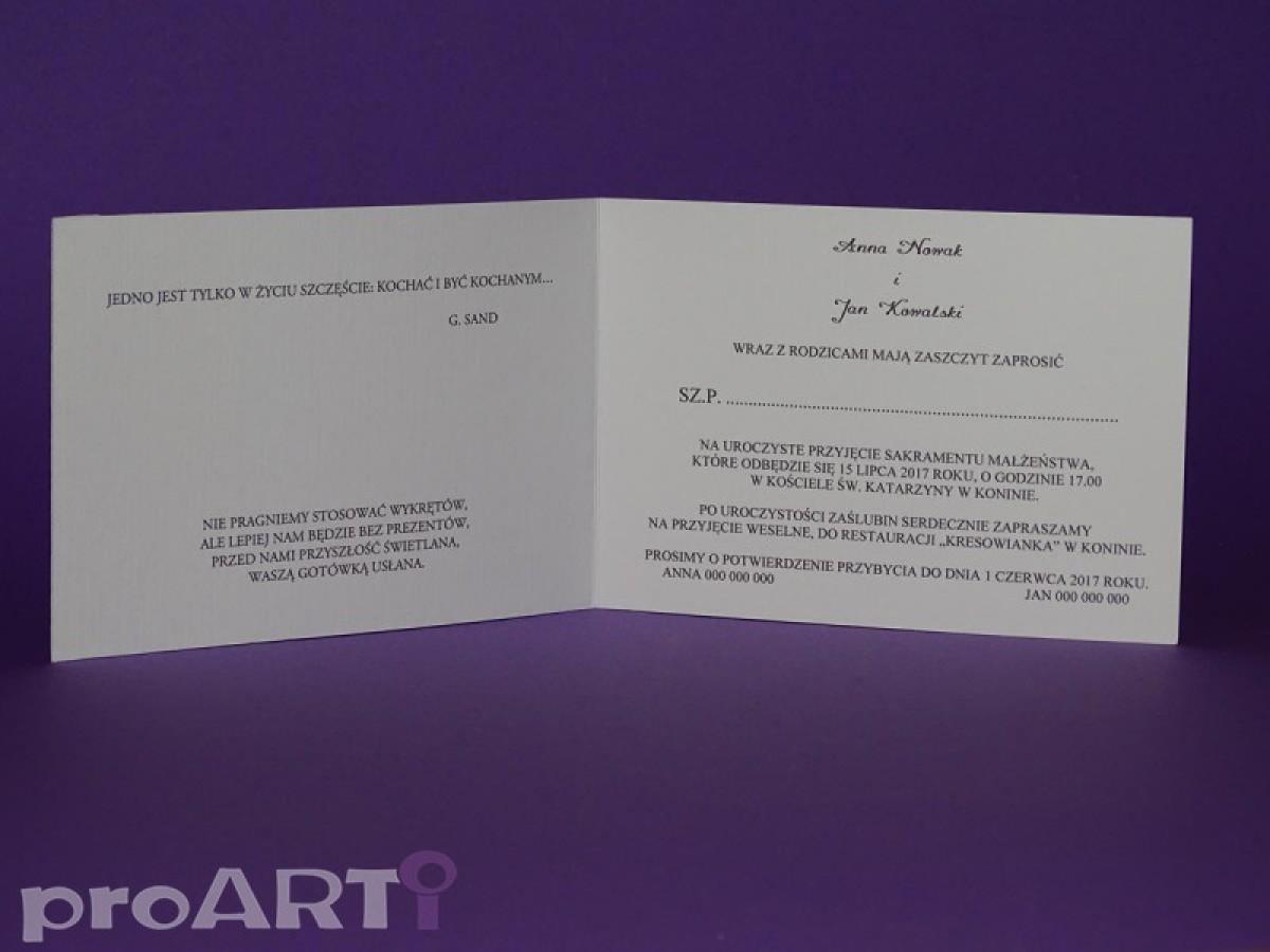 Zaproszenia ślubne Mzs Le17 001 Proarti