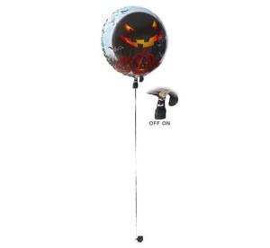 """Balony foliowe kształty z napisami - Balon na Halloween świecący LED """"Dynia - Straszne Party"""""""