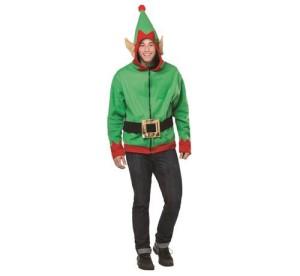 """Strój dla dorosłych """"Elf"""" (bluza z kapturem, pasek), rozm. un."""