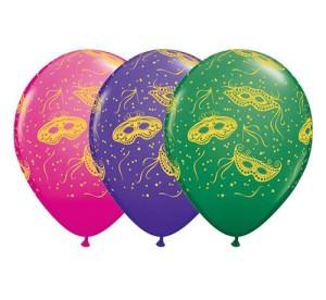 """Balony lateksowe z nadrukiem - Balon 11"""" z nadrukiem """"Maseczki karnawałowa"""""""