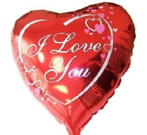 """Balony foliowe kształty z napisami - Balon foliowy 18"""" FX Serce red """"I love you"""" (niezapakowany)"""