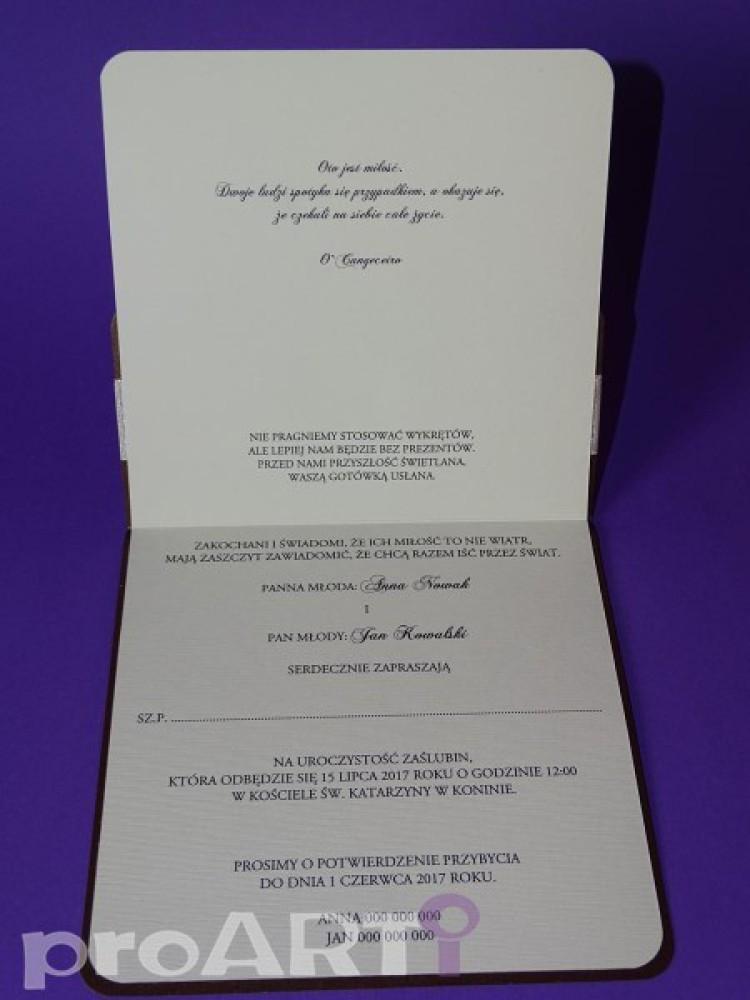Zaproszenia ślubne Mzs Cs17 029 Proarti