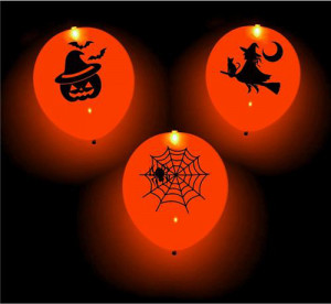 Balony LED - Balony świecące LED straszne party