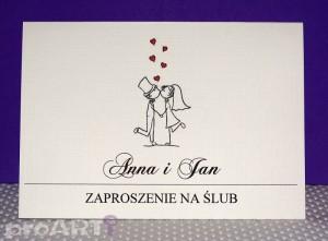 Zaproszenia ślubne MZS-A-003