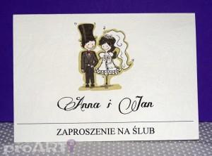 Zaproszenia ślubne MZS-A-001