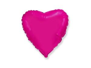 """Balon foliowy 18"""" FX- """"Serce"""" ciemnoróżowe"""