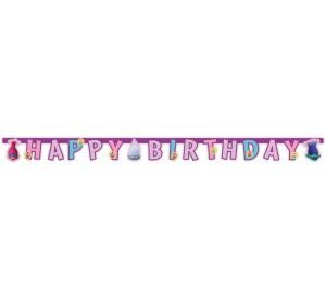"""Girlandy napisy - Baner """"Trolle""""- Happy Birthday"""" - PRZECENA"""