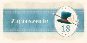 Zaproszenia na 18 urodziny - Zaproszenia na 18 urodziny ArtN ZO-1