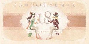 Zaproszenia na 18 urodziny - Zaproszenia na 18 urodziny / ArtN ZO-01