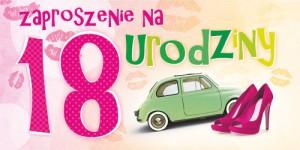 Zaproszenia na 18 urodziny - Zaproszenia na 18 urodziny / ZO-15