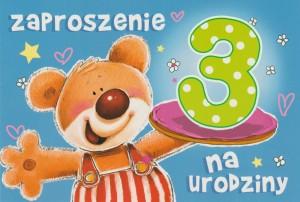 Zaproszenia na urodziny - Zaproszenia na 3 urodziny / Z.C6-522