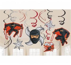 """Girlandy kształty - Dekoracyjne sprężynki """"Ninja"""" 12 szt - PRZECENA"""