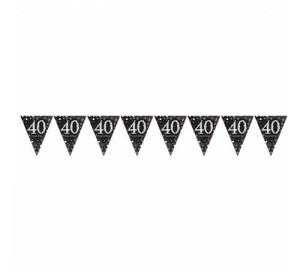 Girlandy cyfry i liczby - Girlanda flagietki na 40 urodziny / 9900568