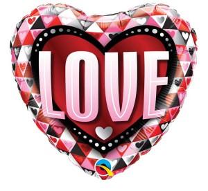 "Balon foliowy 18"" QL HRT ""Love Triangles"""