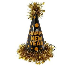 """Czapeczka """"Happy New Year"""", złoty"""