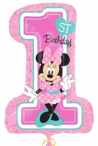 "Balon foliowy 36"" SHP - ""Minnie Mouse 1st Birthday"""