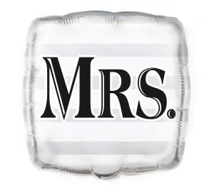 """Balony foliowe kształty z napisami - Balon foliowy """"Mrs"""" / 45,7 cm"""
