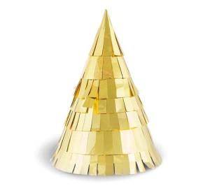 """Czapeczki papierowe """"Złote Party"""", rozm. 14x8,5 cm"""