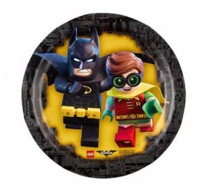 """Talerzyki papierowe """"Lego Batman"""", 18 cm, 8 szt."""
