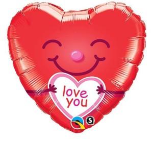 "Balon foliowy 18"" QL HRT ""Love You Smiley Heart"""