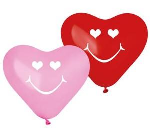 """Balony Premium """"Uśmiechnięte serca"""", 5 szt."""