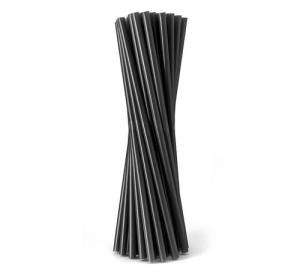 Rurki (slomki) proste czarne 8x240mm, 100 szt.
