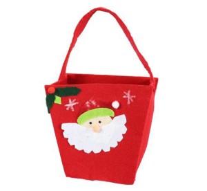 Torebki na prezenty - Torebka świąteczna z Mikołajem