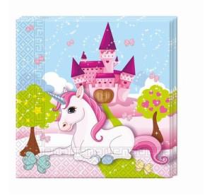"""Serwetki papierowe """"Unicorn"""", rozm. 33x33cm"""