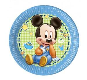 """Talerzyki papierowe """"Mickey Baby"""" 23 cm, 8 szt."""