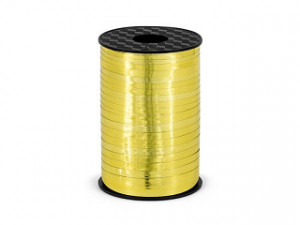 Wstążka plastikowa metalizowana, złota, 5mm/225m