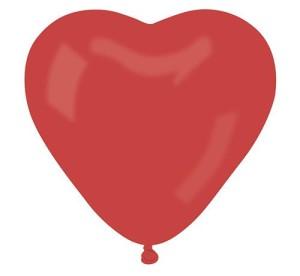 """Balon CR17 pastel """"Serce duże"""" - czerwony 45/50 szt."""