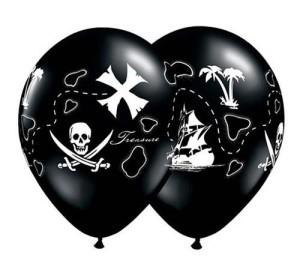 """Balony lateksowe z nadrukiem - Balon dla chłopca """"Mapa Pirata"""""""