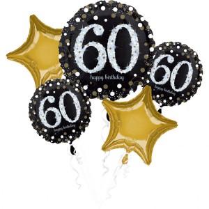 Zestawy balonów na urodziny dorosłych - Zestaw balonów na 60 urodziny