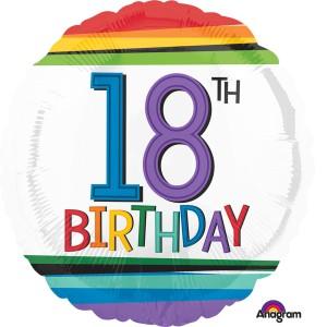 """Balony foliowe z cyframi i liczbami - Balon na urodziny foliowy na """"18 urodziny"""" / 344201"""