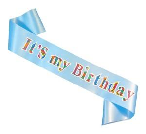 """Szarfy - Szarfa na urodziny """"It`s my birthday"""" / CH-SIMBJB"""