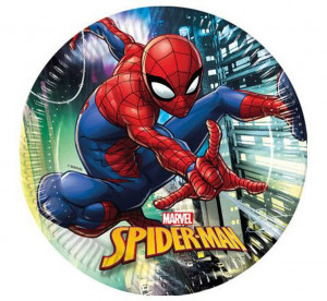 """Talerzyki papierowe """" Spiderman Team Up"""", 23cm"""