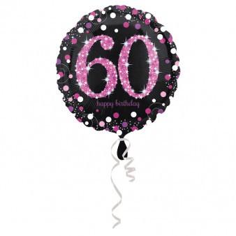 Balony na 60 urodziny, balony na sześćdziesiątkę, cyfry 60