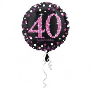 """Balon foliowy okrągły """"40 Urodziny"""", 43 cm"""