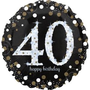 Balon foliowy Jumbo 40-urodziny