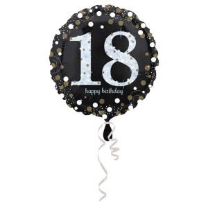 """Balony foliowe z cyframi i liczbami - Balon na urodziny foliowy na """"18 urodziny"""" / 43 cm"""