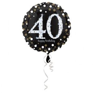 Balon foliowy 40-urodziny, okrągły
