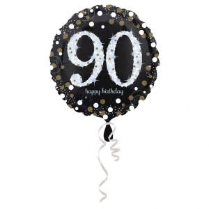 Balon foliowy 90-urodziny, okrągły