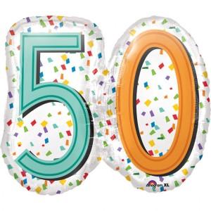 Balon foliowy SuperShape, 50 Urodziny
