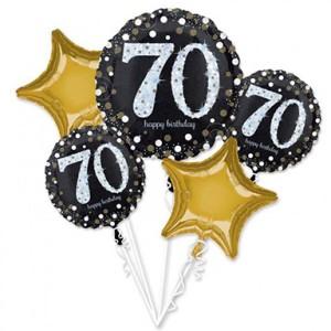 Zestawy balonów na urodziny dorosłych - Zestaw balonów na 70 urodziny / 37887801
