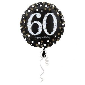 Balon foliowy 60-urodziny, okrągły
