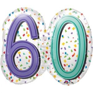 Balon foliowy SuperShape, 60 Urodziny