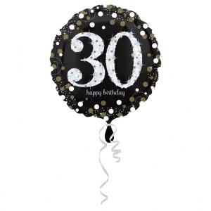 Balon foliowy 30-urodziny, okrągły