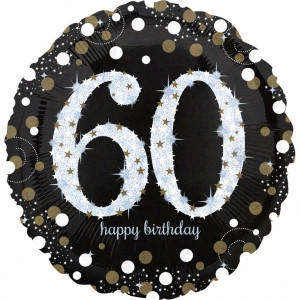 Balon foliowy Jumbo 60-urodziny
