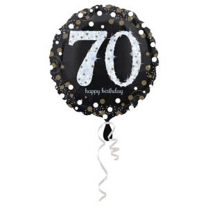 Balon foliowy 70-urodziny, okrągły