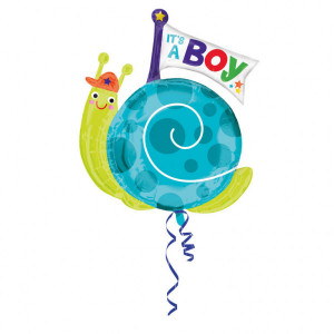 "Balon foliowy SuperShape ślimak ""It`s a boy"""